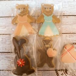 季節限定     クマやうさぎのチョコレートアイシングクッキー  ¥324~486